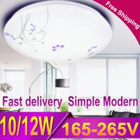 Wholesale floral light fixtures - CANMEIJIA Modern Floral Led Ceiling Light Flush Mount Ceiling Lamp Fixture Lustre Living Room Bathroom Bedroom Kitchen 12W 220V