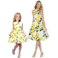 мама дочка соответствия весеннее платье оптовых-Мать дочь платье богемный пляж платье для праздника мода весна осень мама и я семьи соответствующие наряды мать дети