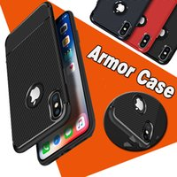 Wholesale Ultimate Protection - Armor Hybrid Carbon Fiber Shockproof The Ultimate Experience Protection Soft TPU Thin Cover Case For iPhone X 8 7 Plus 6S Samsung S8 Note 8