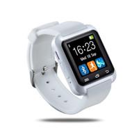bluetooth push оптовых-U8 Smartwatch Bluetooth WristWatche Sport Шагомер Messager push SMS Sync Напоминание о вызовах Удаленная камера Анти-потеря Календарь Спящий монитор