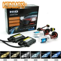 Wholesale H11 Headlights - 55W Xenon Headlight H4 High low HID Conversion Kit h7 H1 H3 H11 H8 H9 H11 H10 9005 9006 880 881 5000k 43000k 6000k 8000k 10000k 12000k