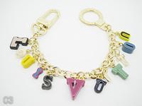 Wholesale bottle opener ring women rhinestones for sale - Group buy High Quality Brand Design Black Water Ripple Key Ring Chains Holder Bag Charm