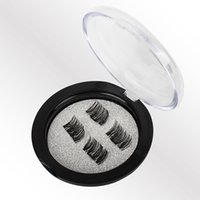 Wholesale true hair - Hot Sale set D Magnetic False Eyelash Magnet False Eyelashes Directly Adsorbed on True Eyelashes Magnetic Eye Lashes Makeup Kit Gift