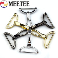 Wholesale luggage clasps - 4pcs New Replacement Luggage Metal Handbags Male Bag Hook Clasp Dog Silver Hardware Accessories Clip Buckles