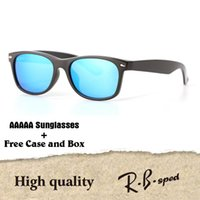 Wholesale metal hinge sunglasses - New arrival Brand Designer sunglasses for men women Mirror glass lenses fashion plank frame Metal hinge with free cases and box