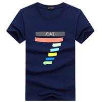 Wholesale round collar shirt men - 2018 Men T shirt Summer Promotions fashion Hip-Hop Shirt Round collar short sleeve T-shirt wholesale short sleeves