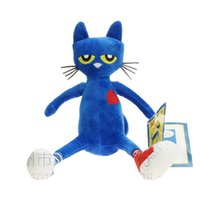 Wholesale teddy bear best gift - Children Toys Pete The Cat Plush Toys Blue Merry Makers Stuffed Dolls Gift For Kids Best Sellers 15zk WW
