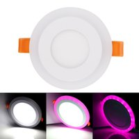 Wholesale acryl colors - 2018 Newest led rgb downlights recessed ceiling lights 6w 9w 18w 24w led down lights rgb+white colors ac 85-265v