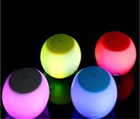 batir los altavoces inalámbricos al por mayor-New7 color lamp bluetoot inalámbrico Altavoz Altavoz LED Light Ring Super Bass Metal Mini Portable Beat Hi-Fi Bluetooth Manos libres