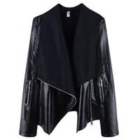 plus size pu motorcycle jacket Australia - Plus size Women Autumn Winter Faux Leather Jackets Lady Bomber Motorcycle Cool PU Outerwear Coat Hot Sale JC130