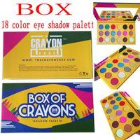 Wholesale 18 color eyeshadow - Makeup eye shadow palette BOX OF CRAYONS Eyeshadow iShadow Palette 18 Color Shimmer Matte Eyeshadow Palette free delivery