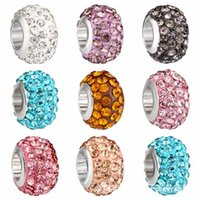Wholesale movie hole for sale - 5mm Hole diameter DIY Jewelry Rhinestone Alloy Colors Loose Beads European Colorful Bead For Bracelets Necklaces