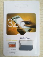 Wholesale orange class - Class 10 EVO 128GB 64GB Micr SD Card MicroSD TF Memory Card C10 Flash SD Adapter White Orange Retail Package