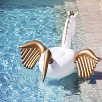 tubo divertido al por mayor-Inflables Pegasus Summer Floating Row Para Adultos Playa Swim Ring Mount Fun Flotador Piscina Tubos de aire Juguete de agua 85kz Y