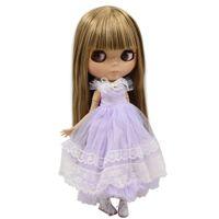 yanmış saç toptan satış-Ucuz Bebekler ICY Çıplak Blyth Doll Serires No.230BL0662 Kahverengi Düz saç JOINT vücut büyük cilt ile cilt yakma cilt Fabrika Blyth