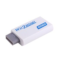 hdmi video konverter großhandel-VBESTLIFE Wii zu HDMI 1080P Konverter Wii2HDMI Adapter 3.5mm Klinke Audio Video Ausgang Full HD 1080P Ausgang Für HDTV