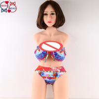 hochwertige solide silikonpuppen großhandel-Top Qualität 88cm echte volle feste Silikon Sex Dolls halben Körper, lebensechte echte Pussy Realis Liebespuppe Torso, japanische erwachsene Puppe für Männer