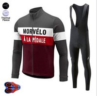Wholesale Morvelo Winter Thermal Fleece Cycling Jersey long sleeve D GEL PAD Pants Ropa ciclismo Bicycle Bike Clothing maillot Ciclismo