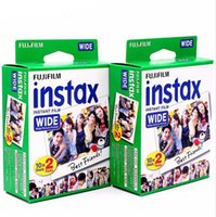 Wholesale Fuji Instant - Fujifilm Instax Wide Film White 20 Sheets For Fuji Instant Polaroid Photo Camera 300 200 210 100 500AF Free Shipping