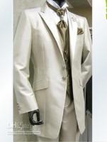 männer prom bilder großhandel-New Real bild Bräutigam Smoking Mann Prom Blazer Anzug Männer Hochzeit Anzüge Bräutigam Anzug (Jacke + Pants + Weste + Tie) 278