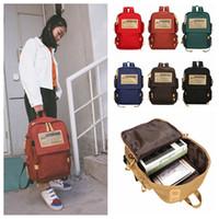 Wholesale canvas rucksacks backpacks resale online - Women Men Canvas Backpack Outdoor Travel Lage Bag Campus Rucksack Schoolbag Leisure Satchel Business Laptop Bag DDA730 Diaper Bags