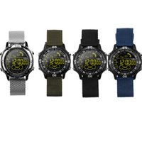Wholesale gps sms tracker watch - IP67 Waterproof EX28A Smart Watches With Round Screen Call SMS Reminder Sport Bluetooth Wristband Remote Camera Alarm Clock Luxury Watch