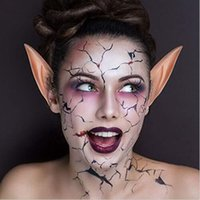 Wholesale 2018 New Pairs Halloween Latex Elf Ears Cosplay Masks Fairy Goblin Nature Color