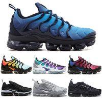 Wholesale Light Brown Boots Men - Vapormax TN Plus VM Air Sole Men Women Designer Running Shoes In Metallic Newest Athletic Sport Sneakers Fashion Gradient Outdoor West Boot