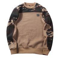 ingrosso sweatshirts camouflage dell'esercito-Uomo Hoodise e felpe Camouflage Army green Abbigliamento 2017 New spring Cotton Cappotti Uomo Casual Solid Hoodies Uomo Hooded