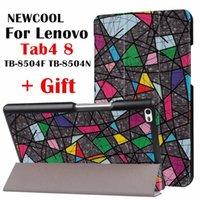 lenovo için vaka örtüsü toptan satış-Lenovo Tab 4 8 TB-8504X Deri kılıf akıllı Kapak için Lenovo TAB4 8 TB-8504F TB-8504 TB-8504N tablet kılıf Kapak Çevirin