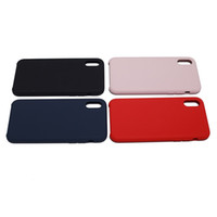 Wholesale cell phones accessories for sale - Liquid Silicone Phone Case for Iphone X 5.8''inch Durable Shockproof Case Pink Blue Red Black Colorful Silicone Cell Phone Accessories Sale