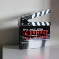 шиферные доски оптовых-2018 горячие продажи большой размер директоров издание хлопушка цифровой будильник фильм действий светодиодные настольные часы хлопушка Совет фильм шифер таблица Cloc