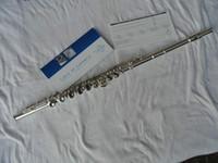 качественные флейты оптовых-Бренд музыкальный инструмент шведский стол BC6010 флейта профессиональный 16 отверстий закрыт C тон флейта высокое качество Мельхиор тело посеребренные с корпусом