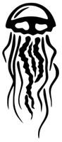 Wholesale macbook vinyl decal - Car Styling For JELLYFISH Vinyl Decal Sticker Window Wall Bumper Macbook Squid Octopus Black