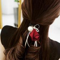 ювелирные изделия из шелка оптовых-designer hair jewelry hair rubber bands bowknot silk ribbon for women wholesale hot fashion free of shipping