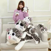 Wholesale Cushion Dolls - Soft 20cm plush toys Christmas Birthday Gifts Anime Figure Cheese Cat Plush Stuffed Toy Doll Pillow Cushion Kawaii for kid toys