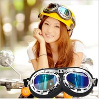 Wholesale green motocross helmets resale online - Fashionable Halley Helmets Casque Goggles Windproof Outsport Cycling Riding Motorcycle Scooter Glasses Motocross Gafas T01