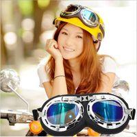 óculos de óculos scooter venda por atacado-Moda Halley Capacetes Casque Goggles À Prova de Vento Outsport Ciclismo Equitação Da Motocicleta Scooter Óculos Motocross Gafas T01 Frete Grátis