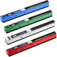 Wholesale Handheld Portable Document Scanner - Portable Handheld Wand Wireless Scanner A4 Size 900DPI JPG PDF Formate LCD Display for Business Document Reciepts Books Images