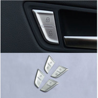 Wholesale audi a4 keys resale online - Car styling Door Unlock Switch Button Cover Trim Decal Chrome Handle Key Stickers Interior auto Accessories For Audi A4 B8 Q5