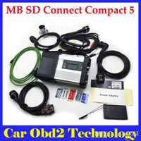 Wholesale mb star diagnosis system - MB SD C5 Connect Compact 5 Star Diagnosis with WIFI for Cars and Trucks Multi-Langauge without HDD v2018.3