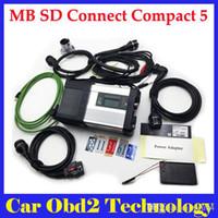 mb stern diagnose kompakt großhandel-MB SD C5 Connect Kompakte 5 Sterne Diagnose mit WIFI für PKW und LKW Multi-Langauge ohne HDD v2018.3