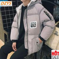 almohadillas para jóvenes al por mayor-2018 Abrigo de invierno de algodón Ropa de hombres versión de la tendencia de la chaqueta de algodón de la juventud suelta DZYS-CX chaqueta corta bi-acolchada