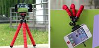 kamerahalterclip großhandel-3 col Flexible Stativhalterung Für Handy Auto Kamera Universal Mini Octopus Schwamm Ständer Halterung Selfie Einbeinstativ Halterung Mit Clip