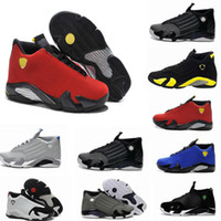 Wholesale 14 days - basketball shoes 14 mens red yellow Green white black Cool Grey mens sneakers sport shoes Free shipping size 8-13