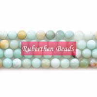 Wholesale NB0033 On Sale Natural Amazonite Stone Beads DIY Jewelry Accessory High Quantity Loose Stone mm Round Beads for Make Jewelry