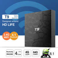 Wholesale wifi game player resale online - T9 Android8 TV Box GB GB Set Top Box Game Console RK3328 Quad Core G G Android Boxes Google TV Media Player Bluetooth G Wifi