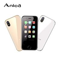 celulares android 1g ram venda por atacado-Original Anica I8 Smartphone MTK6580M Quad Core 1 GB RAM ROM 8 GB 3G GPS WIF Android 6.0 Super Mini Cartão Ultrafino 7 S 8 S Celular telefone celular