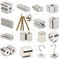 neodym-magneten n52 block großhandel-1 stücke N52 Mini Starke Magnet Neodym Runde Scheibe Quadrat Block Seltene Erden Magnet und Haken Kühlschrankmagnete calamita