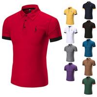 ingrosso polo uomo a maniche lunghe-2018 Poloshirt Solid Polo Shirt Uomo Luxury Polo Shirts uomo manica lunga Top Cotton Polo per ragazzi Designer di marca Polo Homme